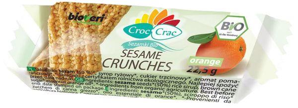 SEZAMKI POMARAŃCZOWE BIO 22,5 g - CROC-CRAC (BIOVERI)