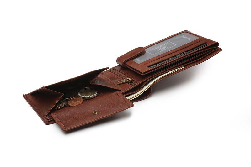 80a3d6e0c21b1b Portfel skórzany męski Zagatto z ochroną kart RFID BLOCK N992L GT zdjęcie 4