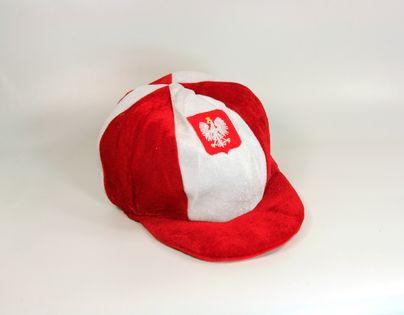 Wesoła czapka kibica Polska