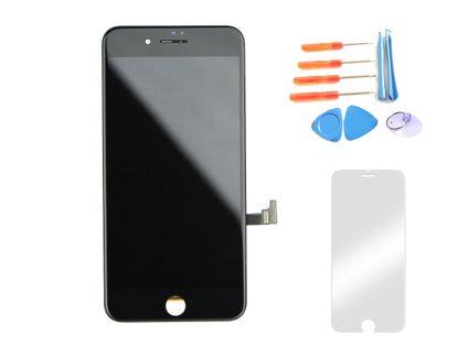 Wyświetlacz iPhone 7 CZARNY  +szkło i narzędzia 