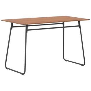 Stół jadalniany, brązowy, 120x60x73 cm, sklejka i stal