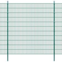 2D Panele i słupki ogrodzeniowe 2008x2230 mm 28 m zielone VidaXL