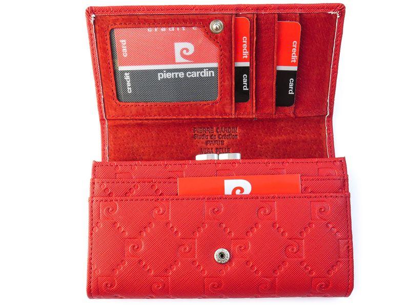 Czerwony portfel damski Pierre Cardin PFD10 zdjęcie 4