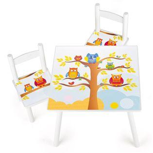 """Stolik z krzesełkami """"Sówka Mądra Główka"""""""