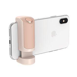 Just Mobile ShutterGrip - Uchwyt foto ze spustem migawki Bluetooth dla iOS/Android (Gold)