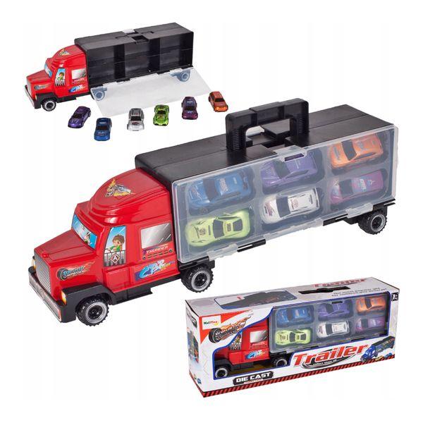 Ciężarówka z walizką z metalowymi autami TIR Y187 zdjęcie 1