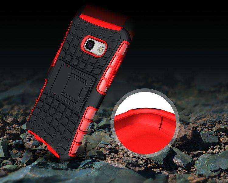 Pancerne etui Kickstand Samsung Galaxy A3 2017 A320 czerwone zdjęcie 4