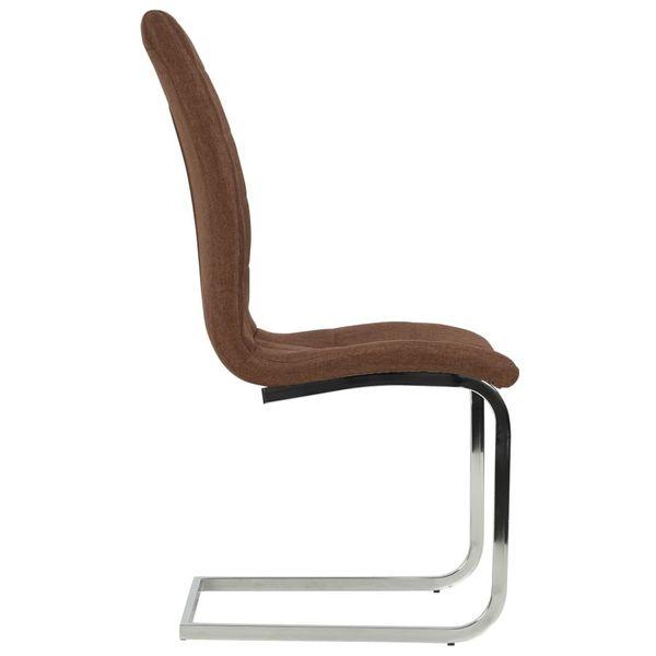 Krzesła Stołowe, 2 Szt., Brązowe, Tkanina zdjęcie 4