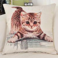 Poszewka na poduszkę - Kotki i Pieski Kotek na białym tle 45x45cm