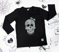 Rockowa koszulka dziecięca z długim rękawem Skull Girl Mia Rock 80