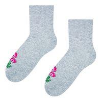 Skarpetki damskie folk - różowy kwiat łowicki - 35-37