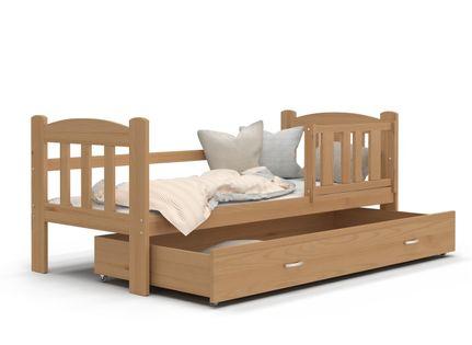 Łóżko dla dzieci TEDI 160x70 szuflada + materac - drewniane
