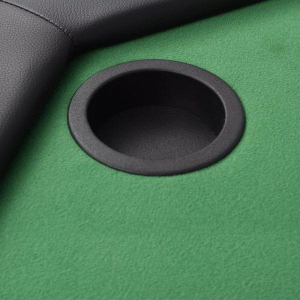 Składany stół do pokera dla 8 graczy, ośmiokątny, zielony zdjęcie 3