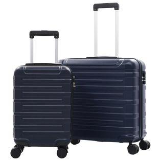 Zestaw twardych walizek 2 szt. granatowe ABS VidaXL
