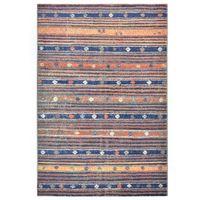 Dywan, niebiesko-pomarańczowy, 160 x 230 cm, PP