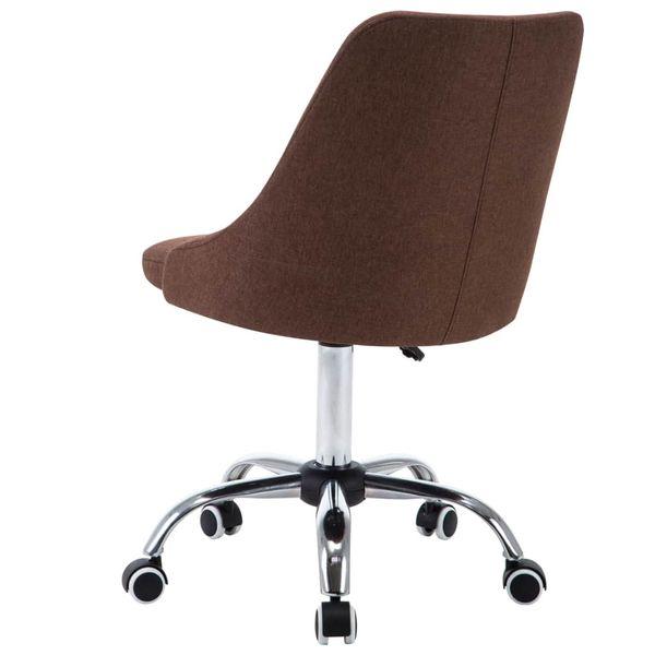 Krzesła Stołowe, 4 Szt., Brązowe, Tkanina zdjęcie 5