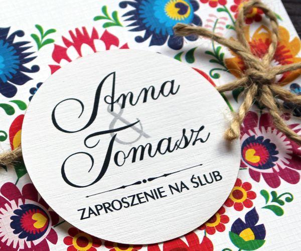 Zaproszenia ślubne Na ślub Zawiadomienia Koperta Arenapl