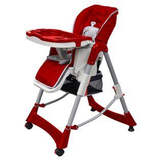 Czerwone krzesełko do karmienia z regulacją wysokości