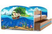 Łóżko Luki dla dzieci 160x80 pojedyncze + MATERAC + SZUFLADA