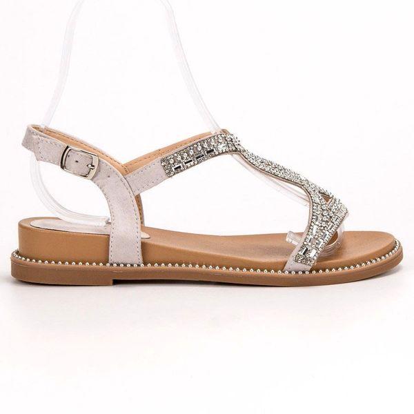 Zamszowe Sandały Z Kryształkami r.36 zdjęcie 1