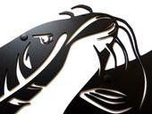 Metalowy wieszak ścienny na ubrania klucze - RYBA SUM zdjęcie 8