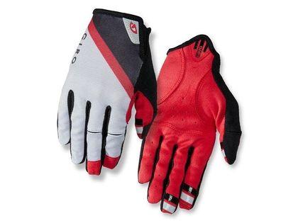 Rękawiczki męskie GIRO DND długi palec grey dark red black roz. L (obwód dłoni 229-248 mm / dł. dłoni 189-199 mm) (DWZ)