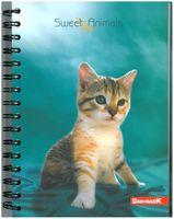 Kołobrulion A5 80 kartek KRATKA * Sweet Animals *