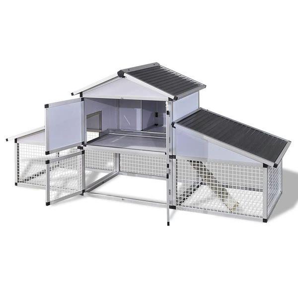 Aluminiowy kurnik z gniazdem i wybiegiem zdjęcie 3
