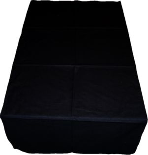 Bieżnik Obrus 60x200 Bawełniany Czarny Czerń Black