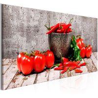 Obraz - Czerwone warzywa (1-częściowy) beton wąski