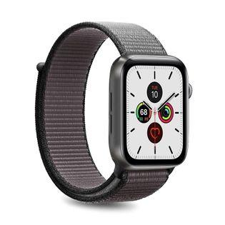 PURO Nylon - Pasek do Apple Watch 42 / 44 mm (Szary/Czarny)