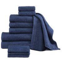Komplet 12 ręczników, bawełna, 450 g/m², granatowy