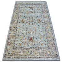 Dywan ARGENT - W7039 Kwiaty Niebieski / Krem 133x190 cm niebieski