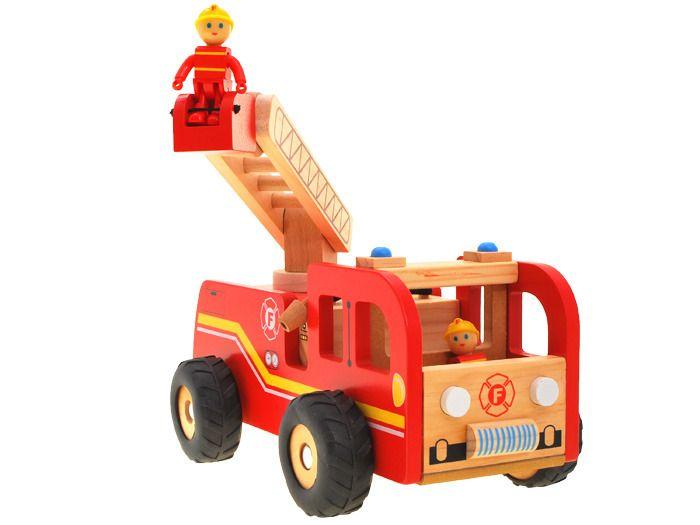 WIELKA Straż Pożarna wóz strażacki DREWNO ZA1809 zdjęcie 3