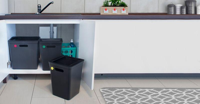 Kosz Z Pokrywą Do Segregacji Śmieci 10L Avedore PlastTeam zdjęcie 4