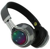 Słuchawki bezprzewodowe nauszne Czerwone Bluetooth LED MP3 Radio M142S