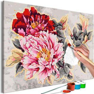 Obraz do samodzielnego malowania - Piękne piwonie