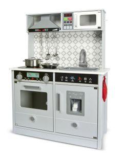 Drewniana kuchnia do zabawy Grey Modern
