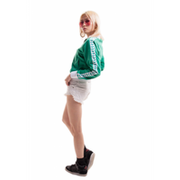 ARENA BLUZA  WOMAN RELAX IV TEAM JACKET ICONS EVERGREEN-WHITE ROZM.S