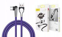 BASEUS Kabel kątowy Kąt USB-C MVP 3A 100cm 1M