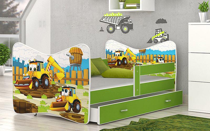 Łóżko TOMI COLOR 140x70 szuflada + materac zdjęcie 1