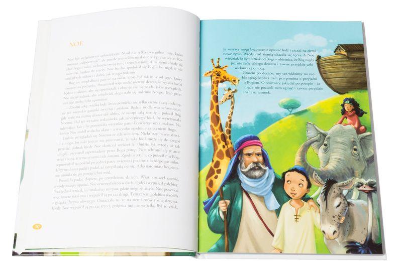 BIBLIA DLA DZIECI B5 z grawerem PREZENT NA CHRZEST KOMUNIĘ zdjęcie 5