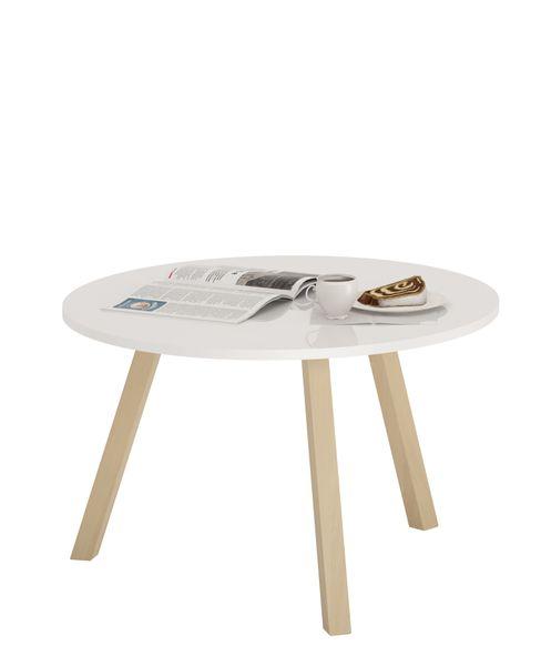 Skandynawski stolik kawowy KOPPLA, biały, ława zdjęcie 1
