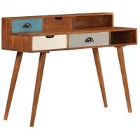 Biurko drewno akacjowe szuflady 110x50x90cm VidaXL