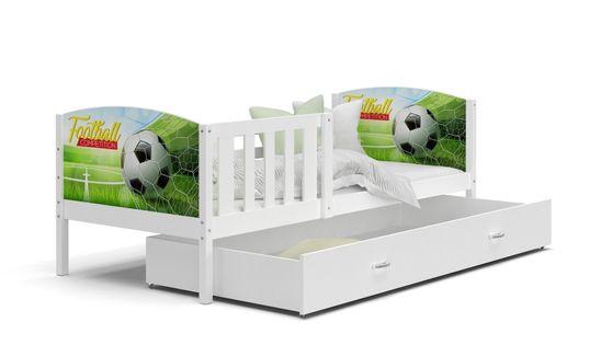Łóżko TAMI P 160x80 wysuwana szuflada + materac