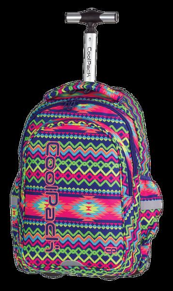 2274bd88f005 Plecak CoolPack JUNIOR na kółkach w kolorowe zygzaki