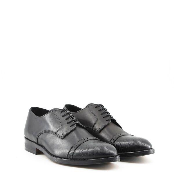 6c3f1a386bc43 Made in Italia skórzane buty męskie pantofle czarny 40 zdjęcie 10