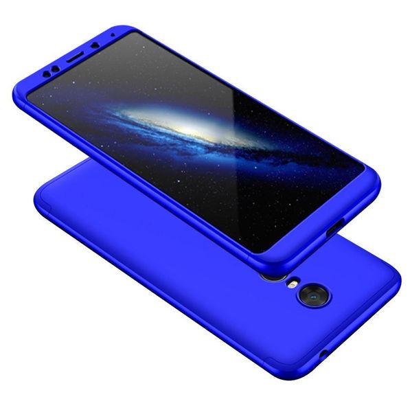 360 Protection etui na całą obudowę przód + tył Xiaomi Redmi 5 Plus / Redmi Note 5 (single camera) niebieski zdjęcie 1