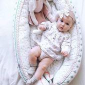 Dwustronny Kokon niemowlęcy Paprocie zdjęcie 7