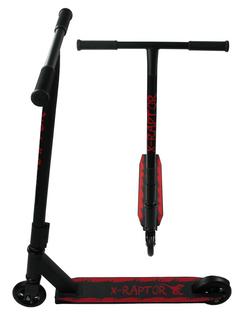 HULAJNOGA WYCZYNOWA X-RAPTOR ABEC-9 100kg 100mm T-BAR Kolor: Czerwony